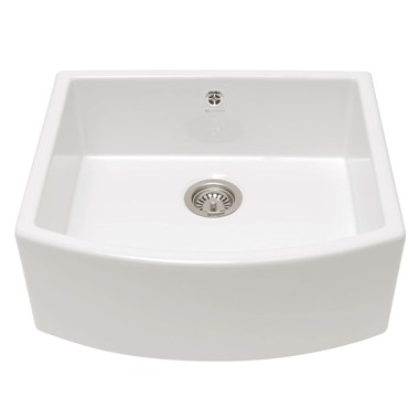 Caple Pemberley Single Bowl White Ceramic Belfast Sink - 597 x 531mm