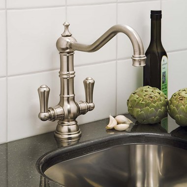 Perrin & Rowe Picardie Twin Lever Mono Sink Mixer
