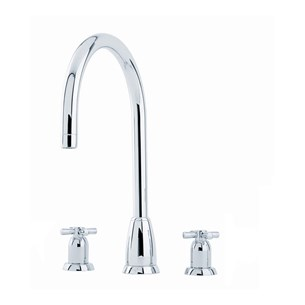 Perrin & Rowe Callisto 3 Hole Crosshead 'C' Spout Sink Mixer