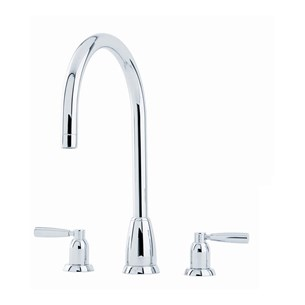 Perrin & Rowe Callisto 3 Hole Lever 'C' Spout Sink Mixer