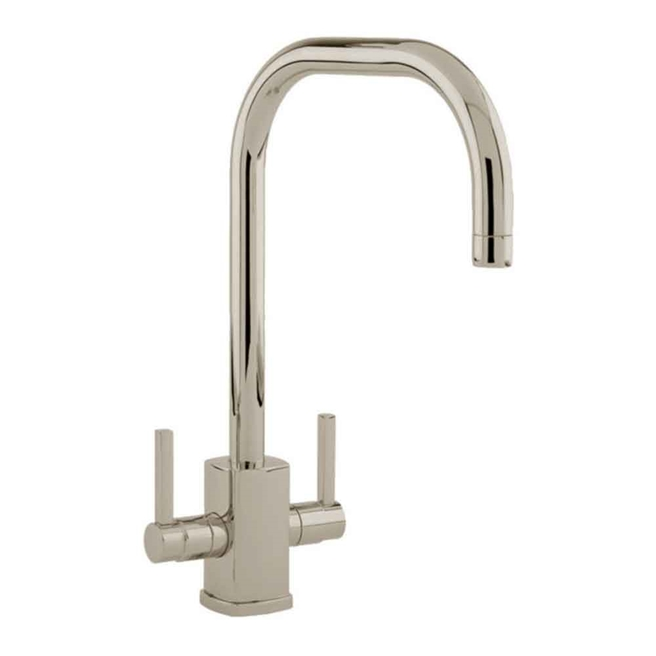 Perrin & Rowe Rubiq Twin Lever Monobloc Mixer with Swivel 'U' Spout