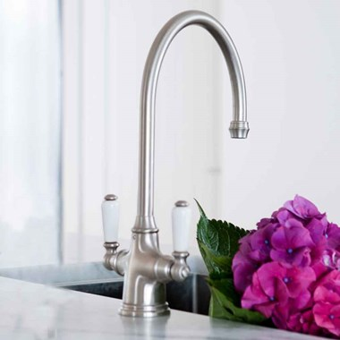 Perrin & Rowe Phoenician Mono Sink Mixer with Porcelain Lever Handles
