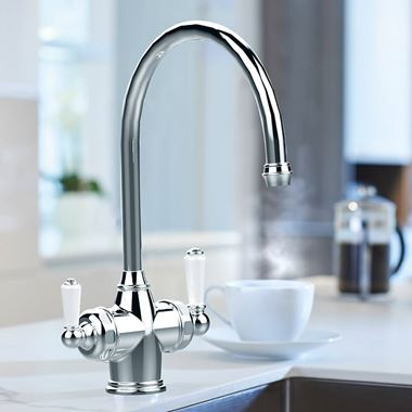 Perrin & Rowe Polaris C Spout 3-in-1 Instant Hot Water Mixer Tap
