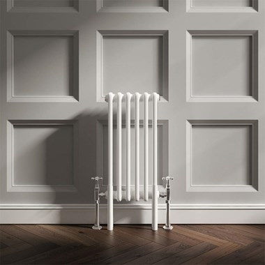 Butler & Rose Designer Horizontal 2 Column White Radiator - 600 x 293mm