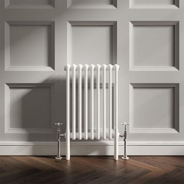Butler & Rose Designer Horizontal 2 Column White Radiator - 600 x 428mm