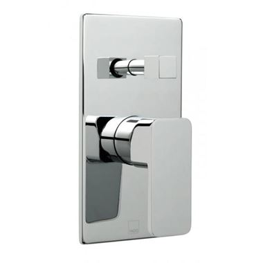 Vado Phase Wall Mounted Single Lever Concealed Shower Valve with Diverter