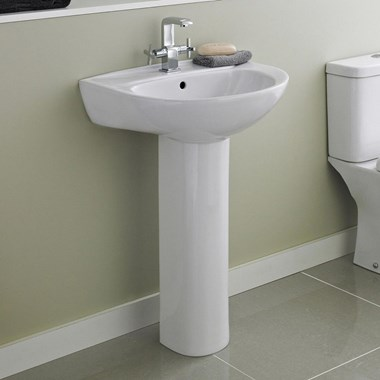 Phoebe 550mm Full Pedestal & Basin