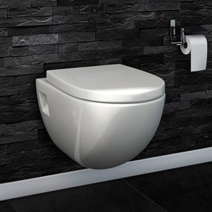 Phoebe Wall Hung Toilet Pan and Soft Close Seat with Quick Release Hinges