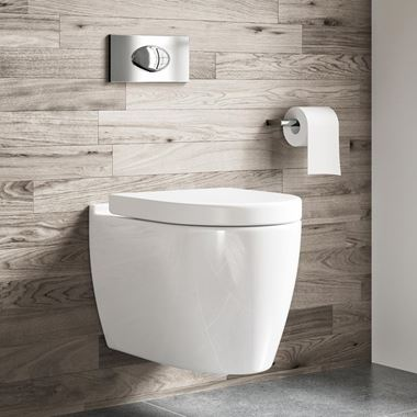 Harbour Icon Wall Hung Toilet & Soft Close Seat - 505mm Projection