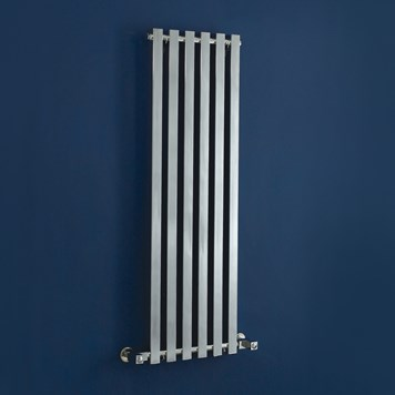 Phoenix Ava Wall Mounted Designer Radiator - 1200 x 400mm - Chrome