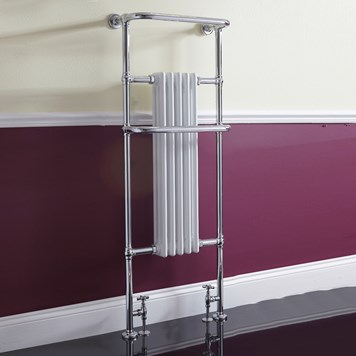 Phoenix Ella Traditional Radiator - 1500 x 590mm - Chrome/White