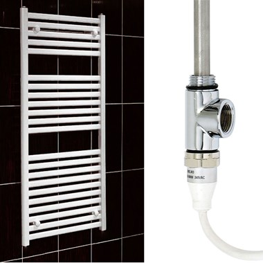 Phoenix Flavia Electric Straight Towel Warmer - White