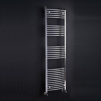 Phoenix Gina Curved Towel Warmer - Chrome - 800mm x 600mm BTU - 1571