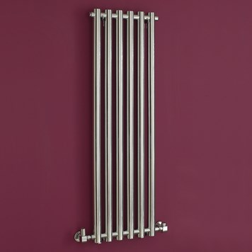 Phoenix Mia Wall Mounted Designer Radiator - 1200 x 400mm - Chrome