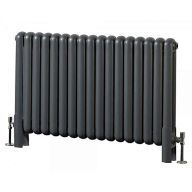 Phoenix Lilly Anthracite Column Radiator - 600mm x 550mm | 2355 BTU