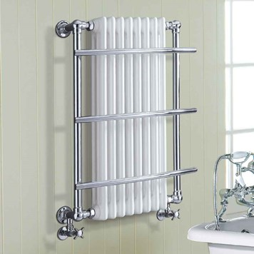 Phoenix Helena Traditional Radiator - 874 x 635mm - Chrome/White