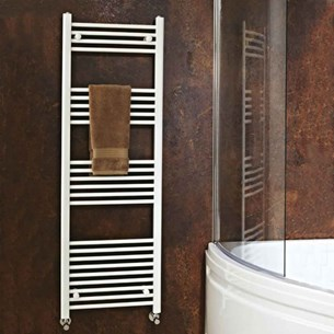 Phoenix Flavia White Heated Towel Rail - 1500mm x 400mm | 2276 BTU