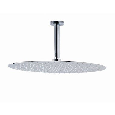 Phoenix Luxury Stainless Steel Round Shower Head and Ceiling Arm - 300mm