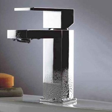 Phoenix Cuté Single Lever Mono Basin Mixer with Square Sprung Waste