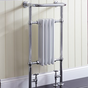 Phoenix Victoria Traditional Radiator - 952 x 479mm - Chrome/White