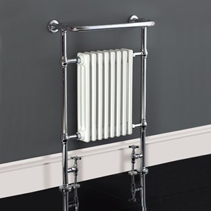 Phoenix York Traditional Radiator - 950 x 660mm - Chrome/White