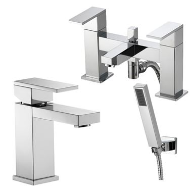 Vellamo Pixo Basin Mixer & Bath Shower Mixer Pack