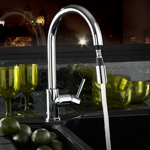 Tre Mercati Solar Pluto-Lite Sink Mixer with Pull Out Spray