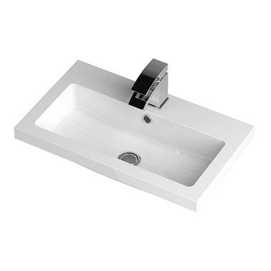 White Slotted 600mm Basin