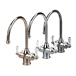 Perrin & Rowe Polaris C Spout 3-in-1 Instant Hot Water Mixer Tap - Pewter
