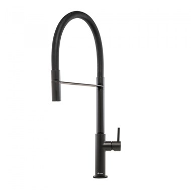 Caple Preto Mono Kitchen Mixer Tap with Pull Out Spray - Matt Black