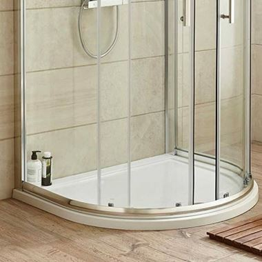 Harbour Primrose D Shaped Shower Tray - 1050 x 925mm
