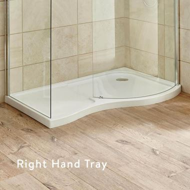 Harbour Primrose Right Hand Curved Walk In Shower Tray