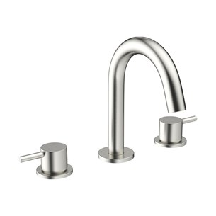 Crosswater MPRO 3 Hole Basin Mixer Tap - Brushed Stainless Steel