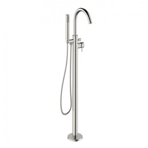 Crosswater Mike Pro Bath Shower Mixer Floor Standing  - Brushed Stainless Steel