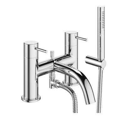 Crosswater Mike Pro Shower Mixer With Kit Deck Mounted Chrome