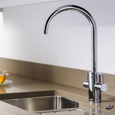 Abobe Pronteau Profile 4 in 1 Instant Hot & Filtered Water Tap - Chrome