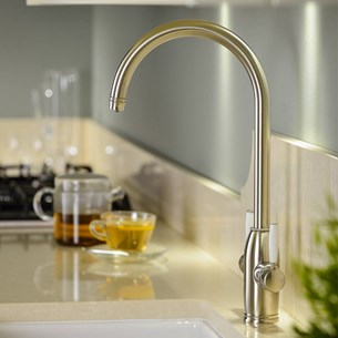 Abobe Pronteau Province 4 in 1 Instant Hot & Filtered Water Tap - Brushed Nickel