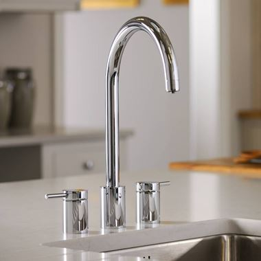 Abobe Pronteau Profile 4 in 1 Instant Hot & Filtered Water Tap - 3 Hole - Chrome