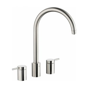 Abobe Pronteau Profile 4 in 1 Instant Hot & Filtered Water Tap - 3 Hole - Brushed Nickel