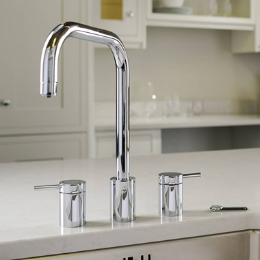Abobe Pronteau Project 4 in 1 Instant Hot & Filtered Water Tap - 3 Hole - Chrome