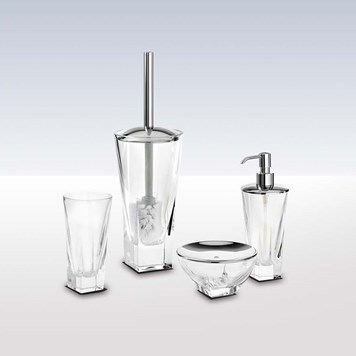 Bathroom Origins Pura Crystal 4 Piece Freestanding Accessory Pack