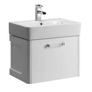Tavistock Q60 600mm Wall Mounted Vanity Unit & Basin - White