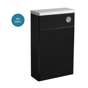 Tavistock Q60 500mm WC Back to Wall Toilet Unit - Graphite