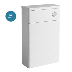 Tavistock Q60 500mm WC Back to Wall Toilet Unit - White