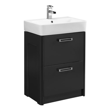Tavistock Q60 575mm Floor Standing Vanity Unit - graphite