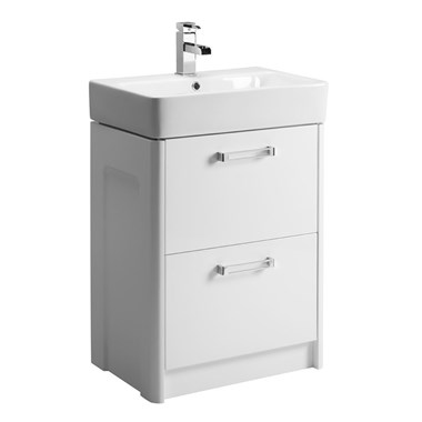 Tavistock Q60 575mm Floor Standing Vanity Unit - White