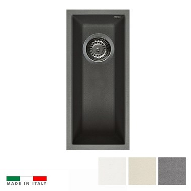 Reginox Quadra 50 Granite 0.5 Bowl Undermount Kitchen Sink & Waste Kit - 200 x 440mm
