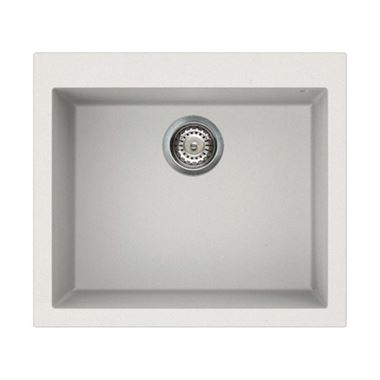 Reginox Quadra 105 White Undermount Granite Sink