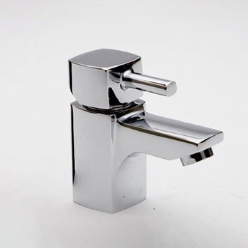 Vellamo Quadro Cloakroom Basin Mixer with Clicker Waste