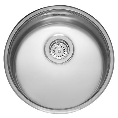 Reginox R18 Round Single Bowl Stainless Steel Inset Kitchen Sink & Waste